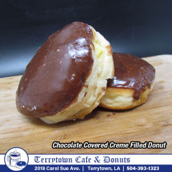 Filled_Donut_Chocolate_Covered_Creme_PNG